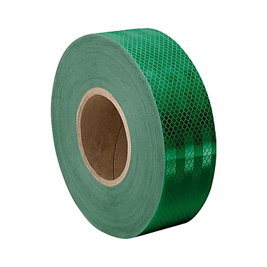 3M 3437 Green Micro Prismatic Sheeting Reflective Tape, 1.625