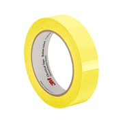 """3M 1350F-2Y 2 mil Yellow Flame-Retardant Tape with Polyester Film and Acrylic Pressure-Sensitive Adhesive, 1"""" x 72yd"""