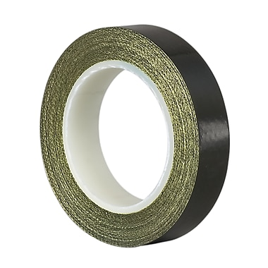 3M TapeCase SG56-03 Semi Conductive Abrasion Resistant Fiberglass Tape Coated with Teflon PTFE, 1