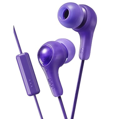 JVC HA-FX7M Gumy Plus Inner-Ear Headphones, Mic/Remote, Violet
