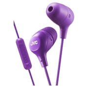 JVC HA-FX38M Marshmallow Inner-Ear Headphone, Mic/Remote, Violet