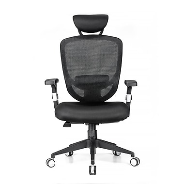 Moustache Ergonomic Adjule Office Chair With Headrest And Lumbar Support Sp Mofc