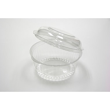 Pactiv 12oz. 1 Compartment Dome Lid Sho-Bowl, Clear