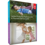 Adobe Photoshop Elements & Premiere Elements 2018 Software, 1 User, DVD, Mac/Windows (65281603)