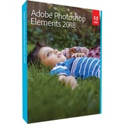 Adobe Photoshop Elements 2018 Software, 1 User, DVD, Mac/Windows (65281995)