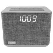 iHome Bluetooth FM Clock Radio, Grey (iBT232GC)