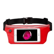 "Insten Lightweight Sports Fitness Running Jogging Waist Pack Pocket Belt Pouch Bag Case - Red (Size: 6.5"" x 3.3"")"