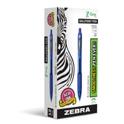 Zebra Pen Z-Grip Retractable Ballpoint Pen, 1.0mm Medium Point, Blue Dozen