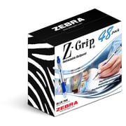 Zebra Pen Z-Grip Retractable Ballpoint Pen, 1.0mm Medium Point, Blue 48pk