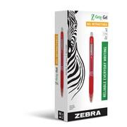 Zebra Pen Z-Grip Retractable Gel Pen 0.7mm Red Dozen