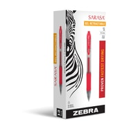 Zebra Pen Sarasa Bold Retractable Gel Pen, 1.0mm Bold Point, Red Dozen