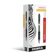 Zebra Pen Sarasa Retractabel Gel Pen, 0.7mm Medium Point, Black Dozen