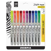 Zebra Pen Zazzle Liquid Highlighter Assorted Colors, Chisel Tip, 10pk with Storage Sleeve