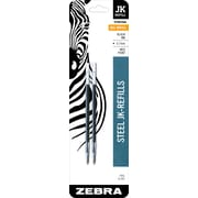 Zebra Pen Refill for G-301 Gel Stainless Steel Pen, JK-Refill 0.7mm Medium Point, Black 2pk (88112)