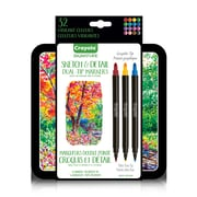 Crayola Sketch & Detail Dual-Tip Markers, 16/Pack (567144)