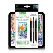 Crayola Brush & Detail Dual-Tip Markers, 16/Pack (567145)
