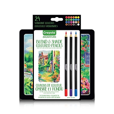 Crayola Blend & Shade Gel Coloured Pencil Tin