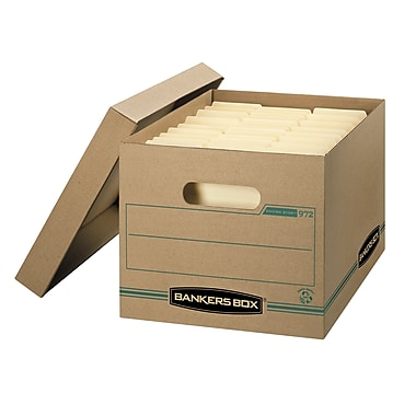 Bankers Box® Enviro Stor™ Letter/Legal Storage Box, 6/Pack (09726)