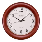 La Crosse Technology 12.5 Inch Cherry Wood Atomic Analog Clock (WT-3122A-INT)