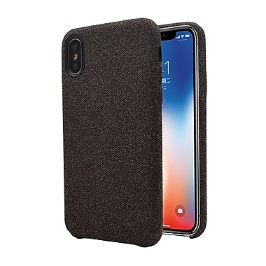 Axessorize Allure Fabric iPhone X Case, Burgundy Brown (IP8F1002)