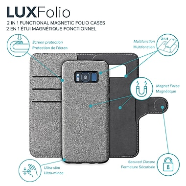 Axessorize Magnetic Folio Samsung Galaxy S8 Case, Glacier Grey (FOLMGS8G)