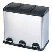 Step N' Sort 3 Compartment Trash & Recycling Bin, 45 L