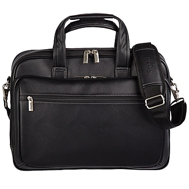 Bugatti Synthetic Leather Executive Laptop Briefcase, 15.6