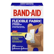 BAND-AID Brand Flexible Fabric Bandages, Knuckle and Fingertip, 20/Pack