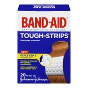 BAND-AID® Brand TOUGH-STRIPS®Adhesive Bandages, 20/Pack