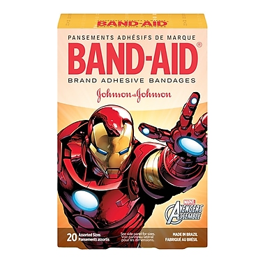 BAND-AID® Brand Adhesive Bandages, Marvel Avengers, Assorted Sizes, 20/Pack