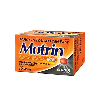 MOTRIN® 400 mg Tablets, Super Strength, 16/Pack