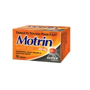 MOTRIN® 400 mg Tablets, Super Strength, 16/Pack