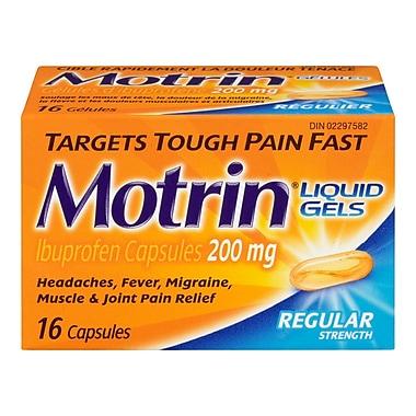 MOTRIN® – Gélules de 200 mg, régulier, paq./16
