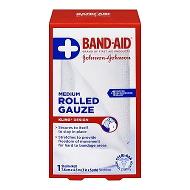 BAND-AID® First Aid Products Rolled Gauze, Medium