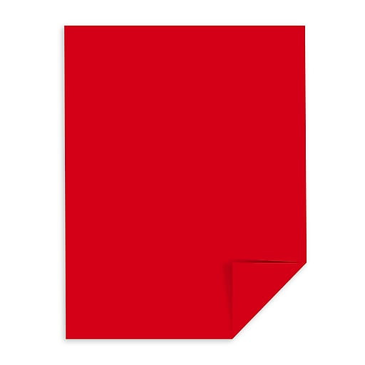 Astrobrights Color Paper 8 1 2 X 11 24 Lb Re Entry Red 500