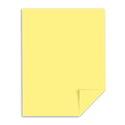 """Exact Index Paper, 8.5"""" x 11"""", 110 lb./199 gsm, Canary Yellow, 250 Sheets/Pack (WAU49541)"""
