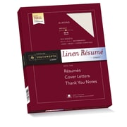 "Southworth 100% Cotton Resume Paper, 8.5"" x 11"", 32 lb., Linen Finish, Almond, 100 Sheets/Box (RD18GCFLN)"