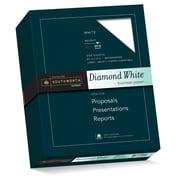 "Southworth 25% Cotton Diamond White Business Paper, 8.5"" x 11"", 24 lb., Wove Finish, White, 500 Sheets/Box (31-224-10)"