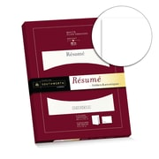 "Southworth® Resume Folder (8.75"" x 11.25""), and Envelopes (9"" x 12""), 28 lb., White with Silver Embossing, 5 Each (RF#2)"