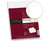 "Southworth 25% Cotton Resume Envelopes, 9"" x 12"", 24 lb., Wove Finish, White, 25/Box (RF#6Q)"