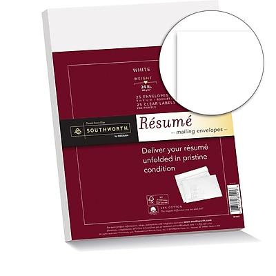 Southworth 25% Cotton Resume Envelopes, 9