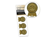"Southworth Certificate Seals, 1.25"" x 2"", Foil, Gold Excellence, 12/Pack (S1)"