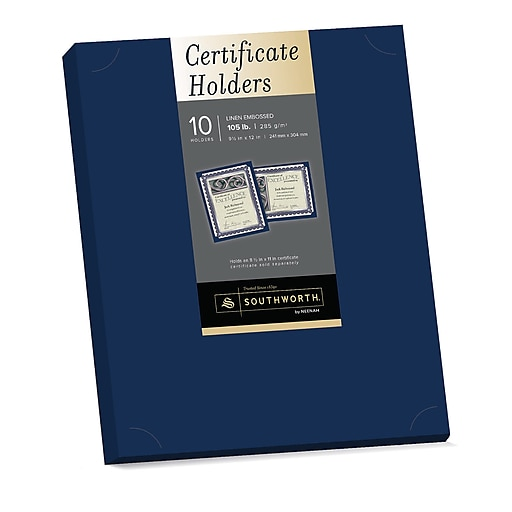 Southworth certificate holders 9 12 x 12 105 lb linen httpsstaples 3ps7is yadclub Choice Image