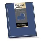 "Southworth® Jacket Certificate Holder, 9.5"" x 12"", Foil Enhanced, Navy, Felt Finish, 105 lb. Cardstock, 5 Jackets/Pack (PF6)"