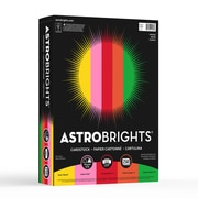 "Astrobrights Colored Cardstock, 8.5"" x 11"", 65 lb./176 gsm, ""Vintage"" 5-Color Assortment, 250 Sheets/Pack (21003 / 22003)"