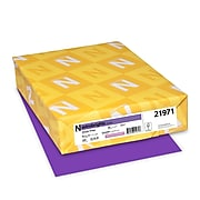 """Astrobrights Colored Cardstock, 8.5"""" x 11"""", 65 lbs/176 gsm, Gravity Grape, 250 Sheets/Pack (21971)"""