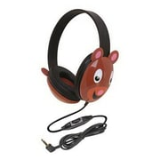 Califone® 2810-BE Listening First Over-the-Head Stereo Headphone, Black/Brown
