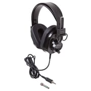 Califone® 2924AVPS-BK Deluxe Over-the-Head Stereo Headphone, Black