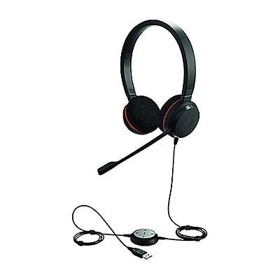 Jabra® Evolve 20SE UC Over-the-Head Stereo Headset, Black