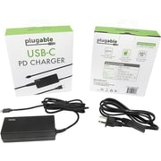 Plugable USBC-PS-60W USB Type C Power Delivery 2.0 AC Adapter, Black
